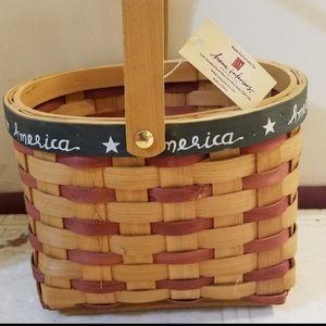 Home Interiors Americana Basket Red White …